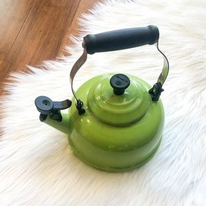 $130 Le Creuset Classic Whistling Teakettle Green